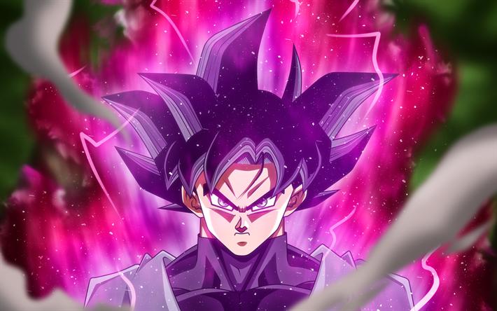 black goku purple fire dbs son goku