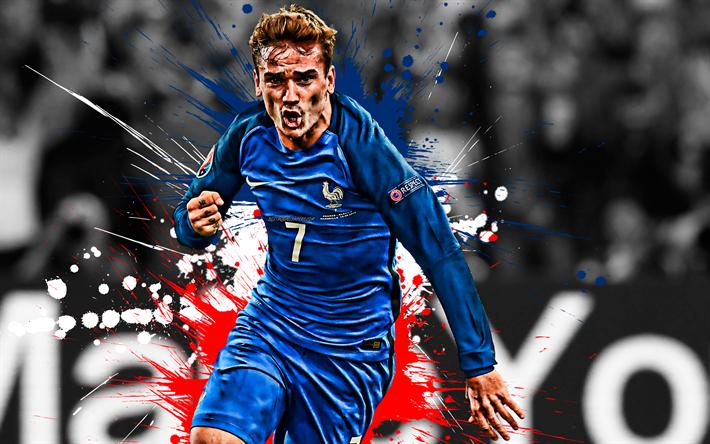 Télécharger fonds d'écran Antoine Griezmann, la France équipe nationale de football, en avant ...