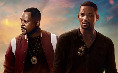 Bad Boys For Life, 2020, 4k, poster, promotional materials, Will Smith, Martin Lawrence, main characters