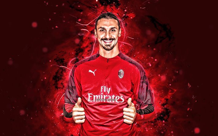 Download Wallpapers 4k Zlatan Ibrahimovic 2020 Ac Milan Swedish Footballers Soccer Serie A Ibrahimovic Rossoneri Ibra Football Neon Lights Milan Fc Italy Zlatan Ibrahimovic Milan For Desktop Free Pictures For Desktop Free