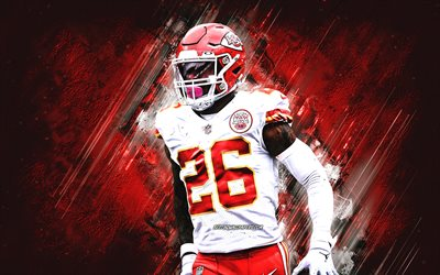 LeVeon Bell, Kansas City Chiefs, NFL, futebol americano, fundo de pedra vermelha, EUA, National Football League