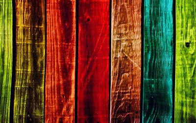 colorful wooden planks, 4k, vertical wooden boards, colorful fence, colorful wooden texture, wood planks, wooden textures, wooden backgrounds, colorful wooden boards, wooden planks, rainbow backgrounds