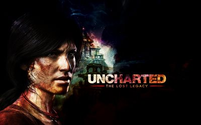 Uncharted The Lost Legacy, 4k, 2017 games, Chloe Frazer