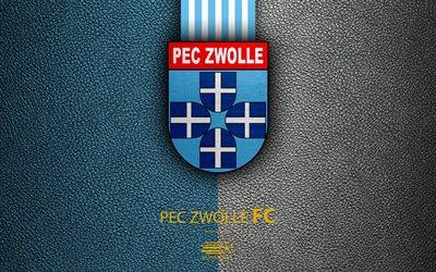 Download Wallpapers Pec Zwolle Fc 4k Dutch Football Club Leather Texture Logo Emblem Eredivisie Zwolle Netherlands Football Dutch Football Championship For Desktop Free Pictures For Desktop Free