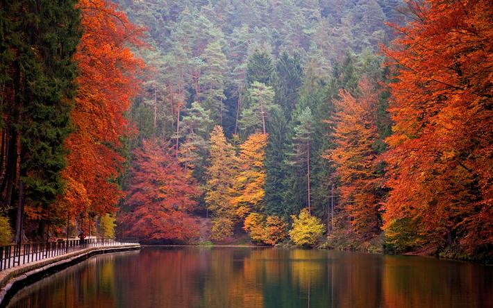 foto de Télécharger fonds d'écran lac de montagne, les Alpes, automne ...