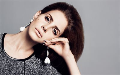 Lana Del Ray, 4k, portrait, American singer, make-up, photoshoot, American celebrities