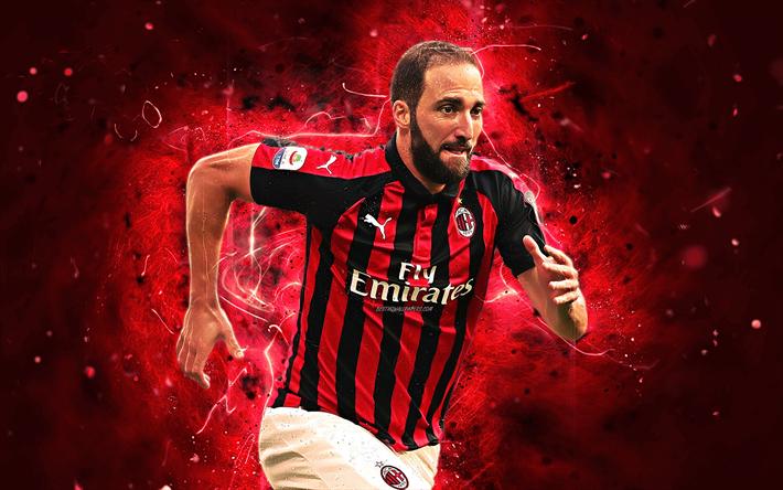 Download Wallpapers Gonzalo Higuain Macth Forward Ac Milan