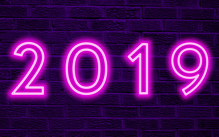 Gate Result 2019 Date Wallpaper: Download Wallpapers 4k, 2019 Year, Purple Background