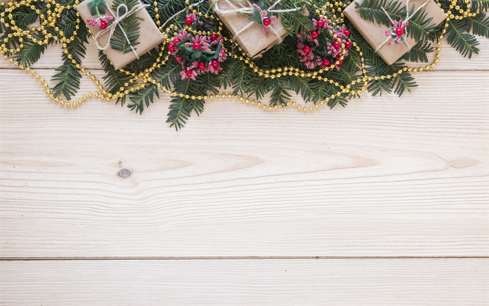 Christmas Wood Background.Download Wallpapers Christmas Wooden Light Background
