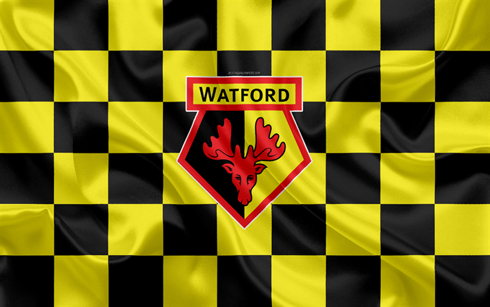 Download Wallpapers Watford Fc 4k Logo Creative Art Black And