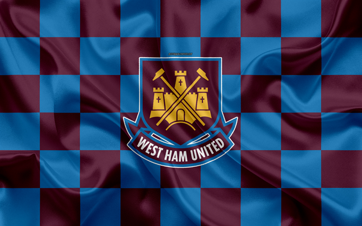 Download Wallpapers West Ham United Fc 4k Logo Creative Art Blue
