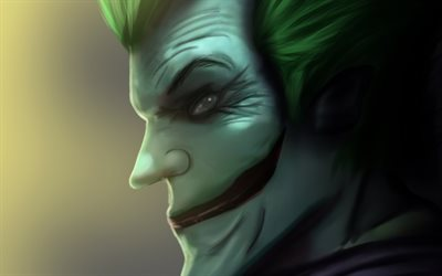 Joker, profile, artwork, anti-hero, smiling joker, creative, superheroes, antagonist