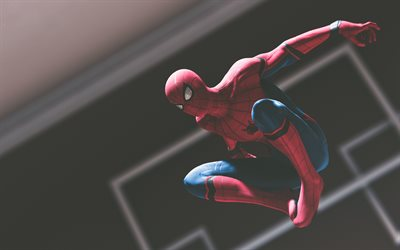 4k, Flying spiderman, 3d art, superheroes, darkness, Spider-Man, DC Comics, Spiderman
