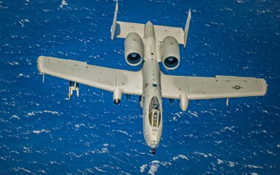 A-10C, Fairchild Republic A-10 Thunderbolt II, military aircraft, US Navy, American attack aircraft, USA