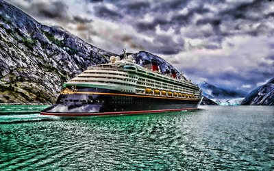 Disney Dream, baksida, HDR, cruise ship, Disney Cruise Line