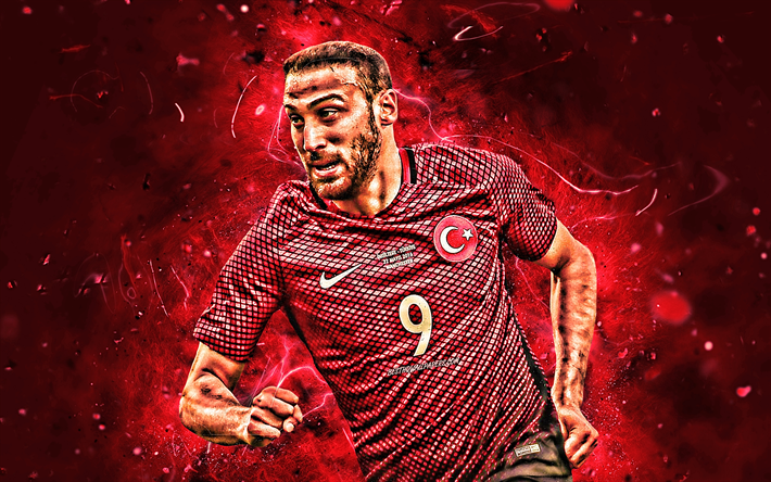 Download Wallpapers Cenk Tosun, Forward, Turkey National