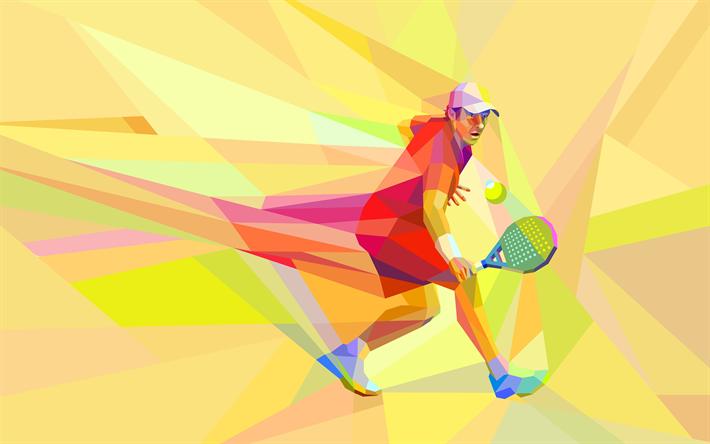 Download Wallpapers Tennis 4k Abstract Art Mosaic