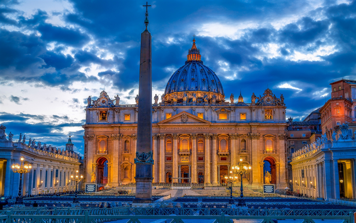 Download wallpapers saint peters basilica vatican - San pedro wallpaper ...