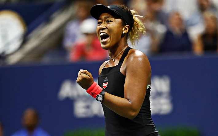 Naomi Osaka, WTA, Japanese tennis player, portrait, first number in WTA, tennis