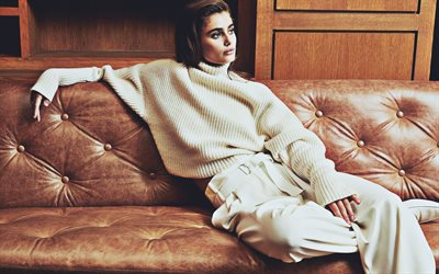 Taylor Hill, 2019, white costume, beauty, american celebrity, Taylor Marie Hill, Victorias Secret Angel, Taylor Hill photoshoot, american models