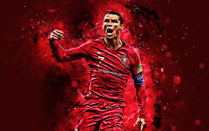 Scarica Sfondi 4k Cristiano Ronaldo Gol Portogallo Nazionale Il