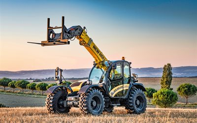 New Holland TH737 Elite, 4k, telescopic handlers, 2020 traktorit, erikoiskoneita, HDR, New Holland