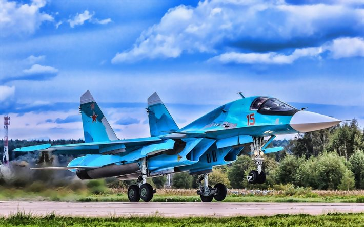 Sukhoi Su-34, HDR, fighter bomber, Fullback, Su-34, Russian Air Force, Russian Army