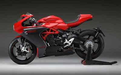 MV Agusta Superveloce 800, 2020, side view, sport bike, black and red Superveloce 800, italian sport bikes, MV Agusta