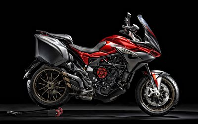 2020, MV Agusta Turismo Veloce 800, side view, exterior, new red-black Turismo Veloce 800, Italian sports bikes, MV Agusta