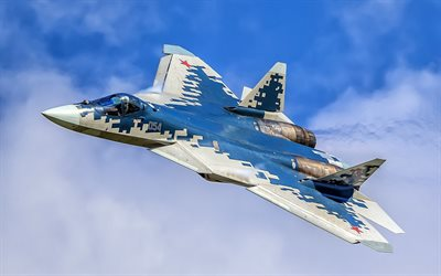 Su-57, PAK FA, Russian jet fighter, Russian Air Force, Sukhoi Su-57, Stealth air superiority fighter, Russia