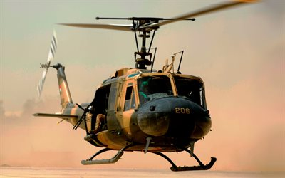 Bell UH-1N Twin Huey, military helicopters, Egyptian Army, Army of Egypt, Bell