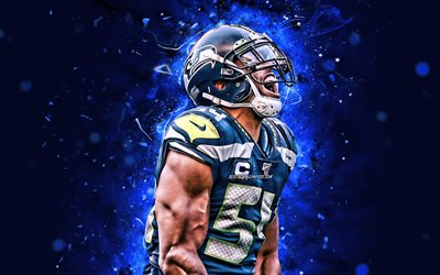 bobby wagner, 4k, linebacker, seattle seahawks, american football, nfl, bobby joseph wagner, national football league, neon lichter, bobby wagner seattle seahawks