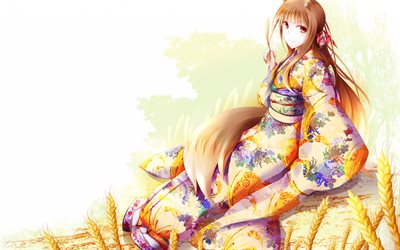 Spice and Wolf, Ookami to Koushinryou, Holo, japanese manga, anime characters