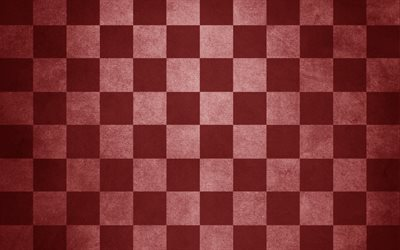 red checkered texture, Chess board, paper texture, red checkered paper background