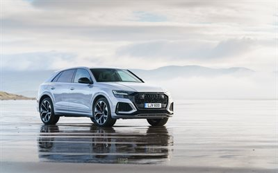 Audi RS Q8, 4k, offroad, 2020 cars, UK-spec, luxury cars, 2020 Audi Q8, german cars, Audi