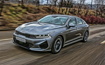 Kia K5, road, 2020 cars, luxury cars, 2020 Kia K5, korean cars, Kia