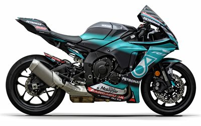 Yamaha YZF-R1, Petronas Yamaha, side view, sport bike, racing bike, japanese sport bike, Yamaha