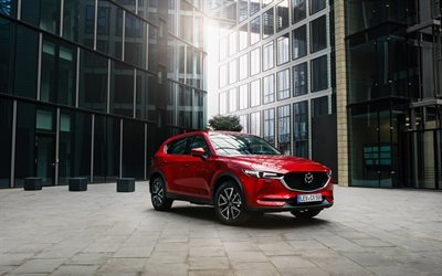 Mazda CX-5, 2017, Red CX-5, business center, crossover, Japanese cars, Mazda