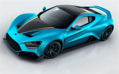 Zenvo ST1 GT, 10th Anniversary, 2017, Blue supercar, sports cars, Zenvo