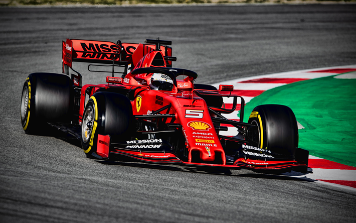Download Wallpapers 4k Sebastian Vettel Ferrari Sf90 On
