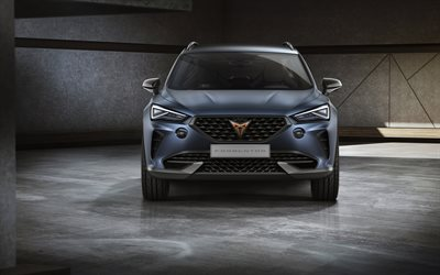 Seat Cupra Formentor, 2019, SUV coupe, exterior, front view, concept, new crossover, spanish cars, Seat