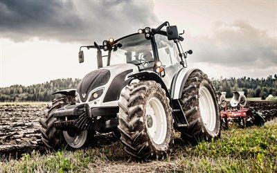 Télécharger fonds d'écran Valtra A134, 4k, labourer le champ, 2019, tracteurs Valtra Série A4 ...