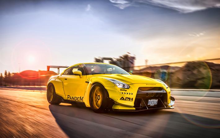Download wallpapers Pandem Nissan GT-R, tuning, 4k, Rocket