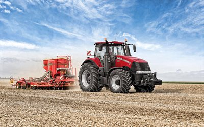 Case IH Magnum 380 CVT, 2019, corn planting, field processing, new tractors, sowing seeds, Case