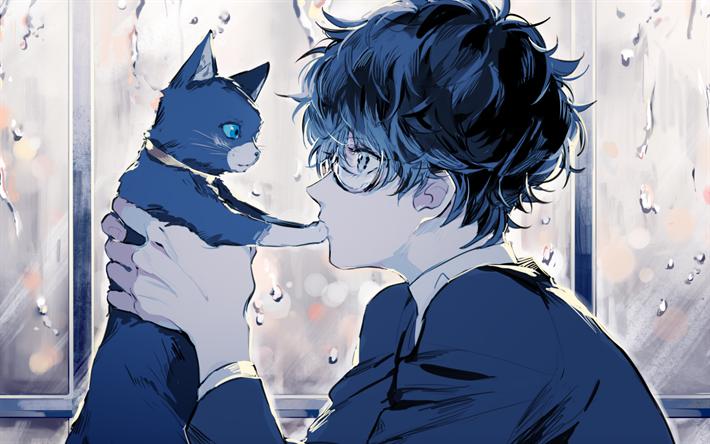 Download Wallpapers Kurusu Akira Black Cat Manga Persona