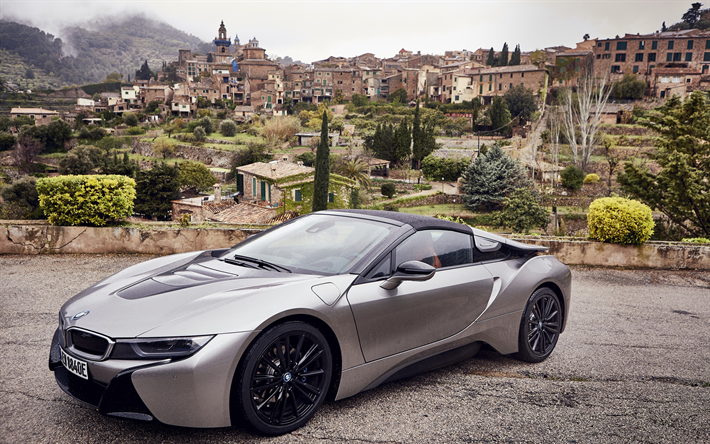 Download Wallpapers Bmw I8 Roadster 2018 4k Luxury Sports Car
