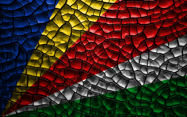 Download Wallpapers Flag Of Seychelles 4k Cracked Soil