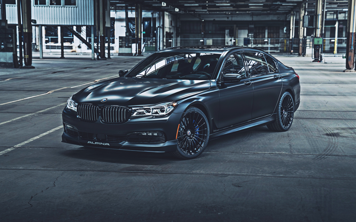 BMW Alpina B7, 4k, tuning, 2019 arabalar, BMW 7 Serisi, Model, Alman otomobil, 2019 BMW Alpina B7, HDR, BMW