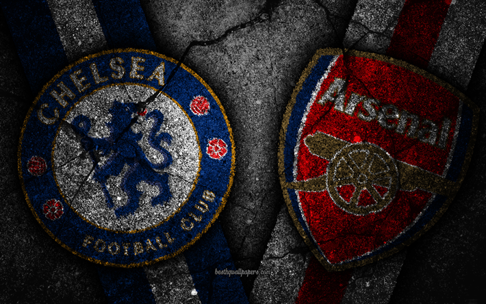 Download Wallpapers Chelsea FC Vs Arsenal FC, Grunge, 2019