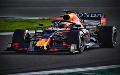 Max Verstappen, 4k, Red Bull Racing RB16B, piste de course, voitures de F1 2021, Formule 1, RB16B sur piste, Red Bull Racing Honda, nouvelles RB16B, F1, Red Bull Racing 2021, voitures de F1